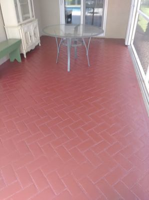 Beautiful Stained Pool Deck in New Smyrna, FL (2)
