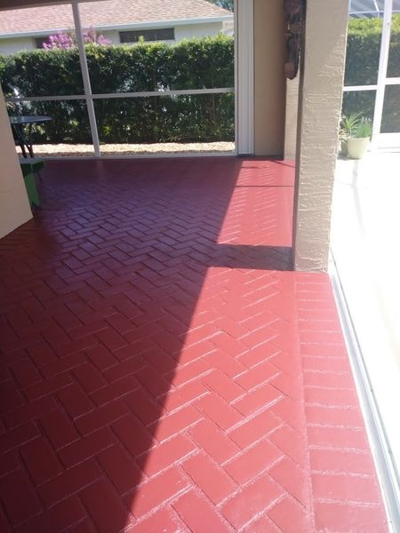 Beautiful Stained Pool Deck in New Smyrna, FL (3)