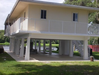 Exterior Painting for a Home on St. Johns River in Deland, FL