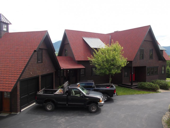 Home is a custom built by Arnold Fellman and custom painted by Fellman Painting & Waterproofing at Mt. Washington in NH